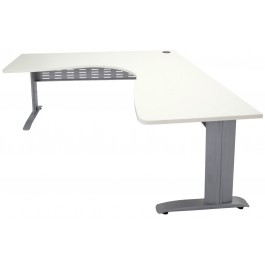 Workstation Desk 1500x1500 with Silver Metal Frame