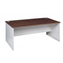 Open Desk 1800L - Walnut / White
