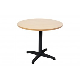 Round Conference Table Black Metal Base