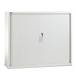 Low Height Metal Tambour Door Storage / Stationery Cabinet