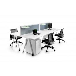 Vee Double Desk
