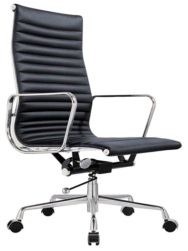 Beau Eames Replica Leather High Back Boardroom / Meeting Room Chair