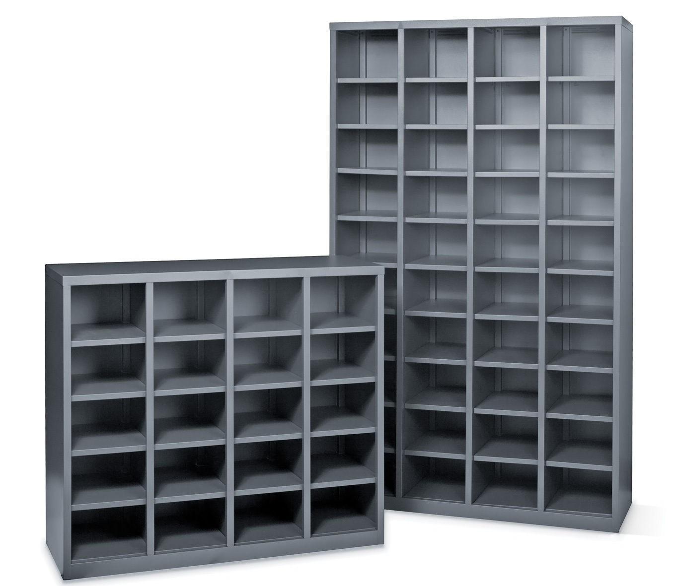 metal pigeonhole shelving unit 20 holes metal storage