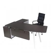E2 Desk - Black Linewood