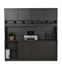 Wall Unit with Pigeon Hole Slots and Cupboard Doors - BL