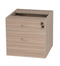 Fitted Pedestal 1 drawer + 1 file with lock for Under Desk - Tawny Linewood