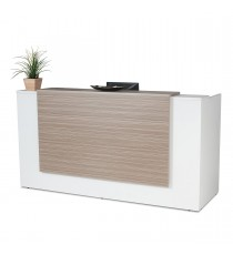 Excel Reception Counter / Reception Desk - Tawny Linewood 1500L