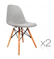 Retro Replica Eames Eiffel Chairs x 2 metal frame