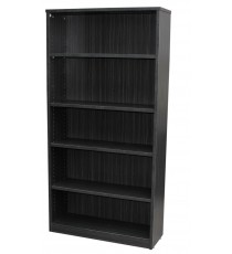 Blackened Linewood Open Bookcase