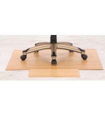 Eco Friendly Bamboo Office Chair Mat Large