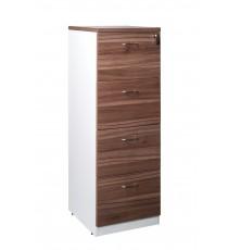 4 Drawer Filing Cabinet - Walnut
