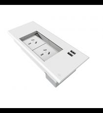 Flip in Desk Box - 2 GPO & 2 USB