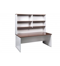 Office Desk and Hutch Office Package - Walnut