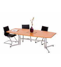 Boardroom Table with Polish Chrome Legs