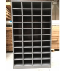 Metal Pigeon Hole Shelving Unit - 40 Holes - Silver