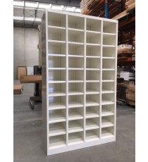 Metal Pigeon Hole Shelving Unit - 40 Holes - White