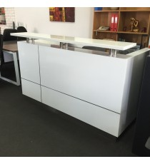 Hugo White 2 Pack Reception Counter 2200L
