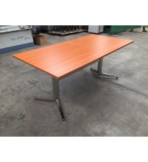 Small Boardroom Table with Polish Chrome Legs