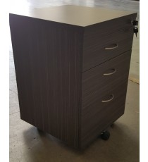 Mobile Pedestal with Lock - Blackened Linewood