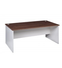 Open Desk 1500L - Walnut / White