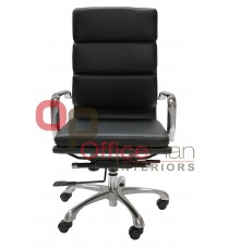 Padded Eames Replica Boardroom / Visitor Chair - High Back Leather