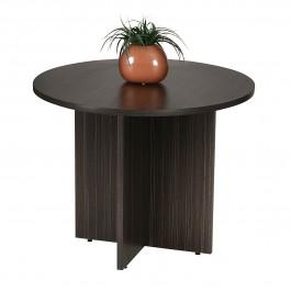 Round Meeting Table 900 Diam - Blackened Linewood