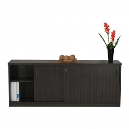 Sliding Door Credenza or Buffet - Blackened Linewood