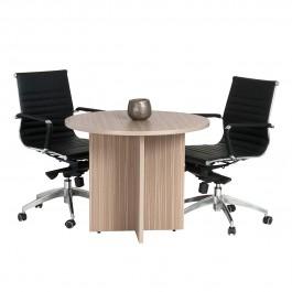 Round Meeting Table 900 Diam - Tawny Linewood