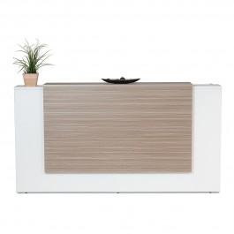 Excel Reception Counter / Reception Desk - Tawny Linewood