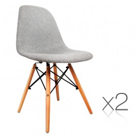 Retro Replica Eames Eiffel Chairs x 2 metal frame