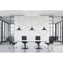 Scope Black Frame Rectangular Shaped Boardroom Table