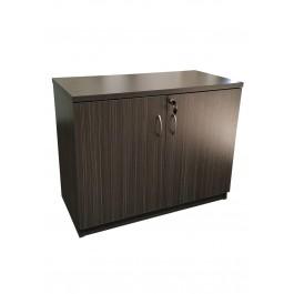 Hinge Door Credenza / Buffet 900L - Blackened Linewood