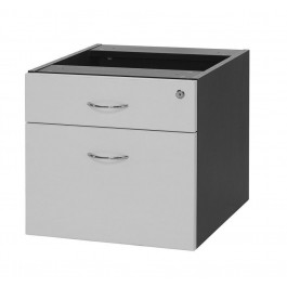 Fixed or Fitted Pedestal 1 Drawer + 1 File for Under Desk with Lock