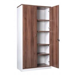 Full Door Cupboard with Lock - Walnut