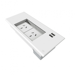 Flip in Desk Box - 2 GPO & 2 USB
