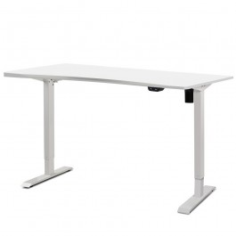 Height Adjustable Desk White / White