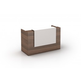Opal Reception Counter / Reception Desk - Walnut