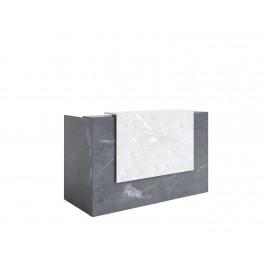 Opal Reception Counter / Reception Desk - Marble Laminate