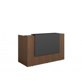 Opal Reception Counter / Reception Desk - Regal Walnut