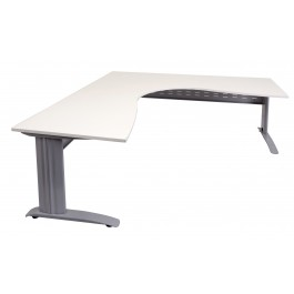 Rapid Corner Workstation 1500 x 1500 with Silver Metal Frame