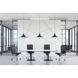 Scope Black Frame Rectangular Shaped Boardroom Table