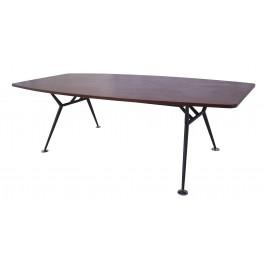 Black Frame Boat Shaped Boardroom Table