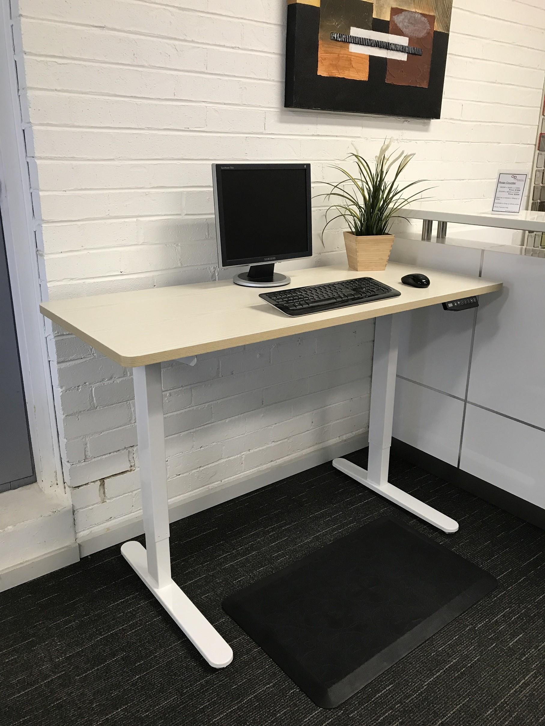 Height Adjustable Desk Walnut Top Furniture Amp Desks