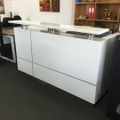 Hugo White 2 Pack Reception Counter 2200L