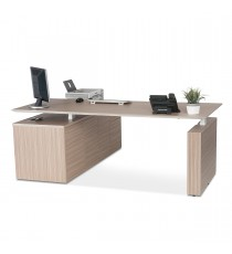 E1 Executive Desk  - Tawny Linewood