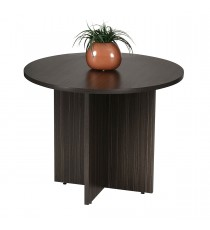 Round Meeting Table 900 Diam - Blackened Linewood