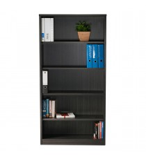 Blackened Linewood Open Bookcase