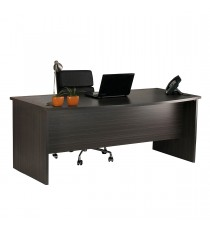 Bow Front Desk - Blackened Linewood