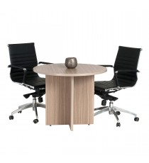 Round Meeting Table 900 Diam - Tawny Linewood