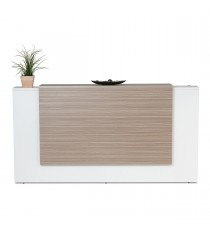 Excel Reception Counter / Reception Desk - Tawny Linewood